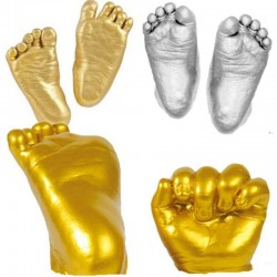3D baby's hand & foot print - powder plaster - casting mold
