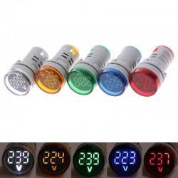 60-500V AC 22mm LED digital display - gauge voltage meter indicator