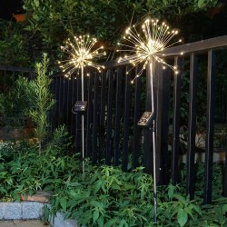 LED dandelion lights - 120 LEDS - solar powered