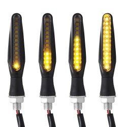 12 LED - motorcycle turn signal lights - indicators for Kawasaki & Harley 2 pcs