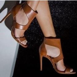 Elegant high heels - pumps with zipper
