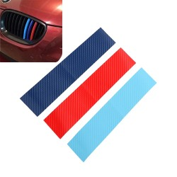 3D Carbon Fiber for BMW grill - stripes sticker 25 * 5cm