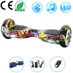 6.5 inch electric scooter - self-balancing hoverboard - Led - Bluetooth speaker - bag