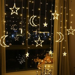Moon & stars - Led lights string - Christmas decoration - 110V - 220V