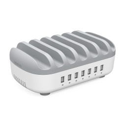 5V2.4A 7-ports USB charging station dock with phone holder
