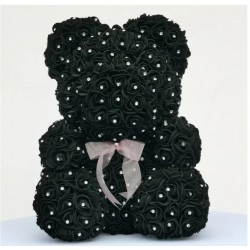 Rose bear - bear made of infinity roses with diamonds - 25 cm - 35 cm